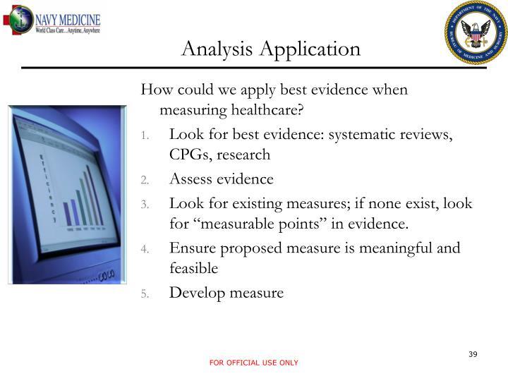 Analysis Application