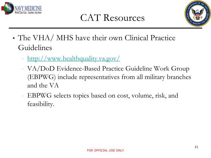CAT Resources