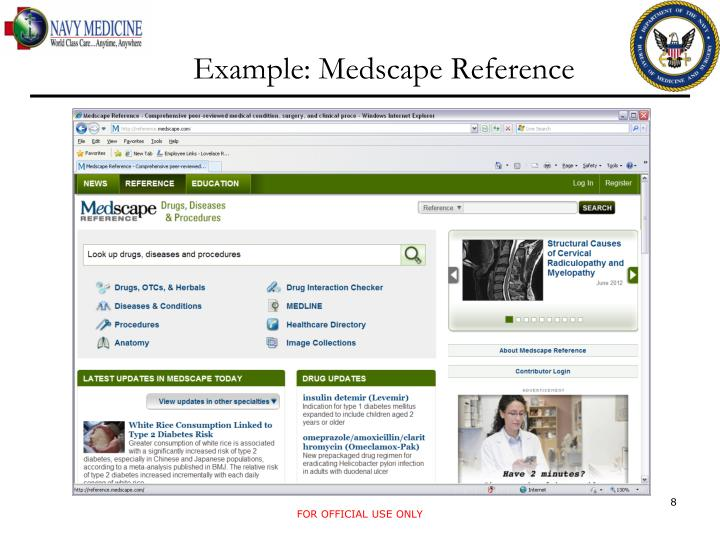 Example: Medscape Reference