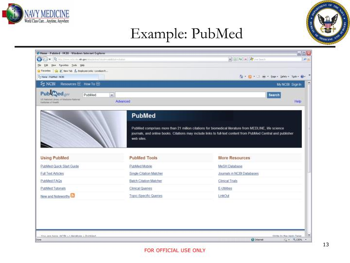 Example: PubMed