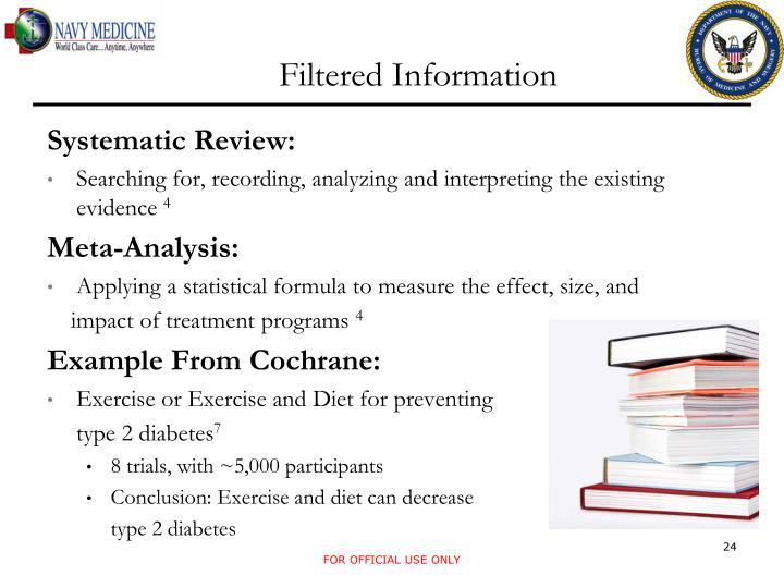 Filtered Information