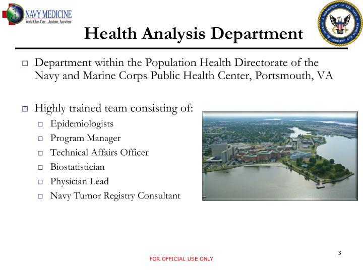 Health Analysis Department