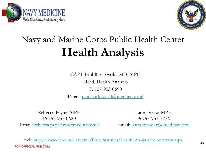 Navy and Marine Corps Public Health Center