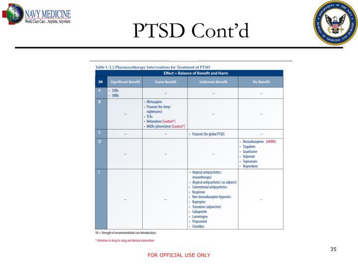 PTSD Cont'd