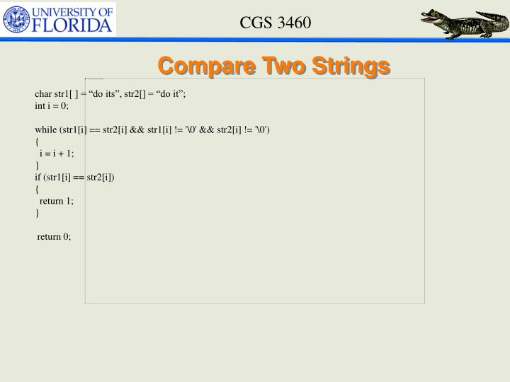 Compare Two Strings