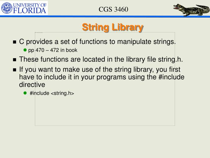 String Library