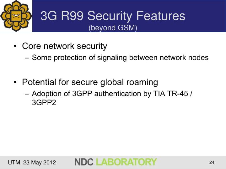 3G R99 Security Features
