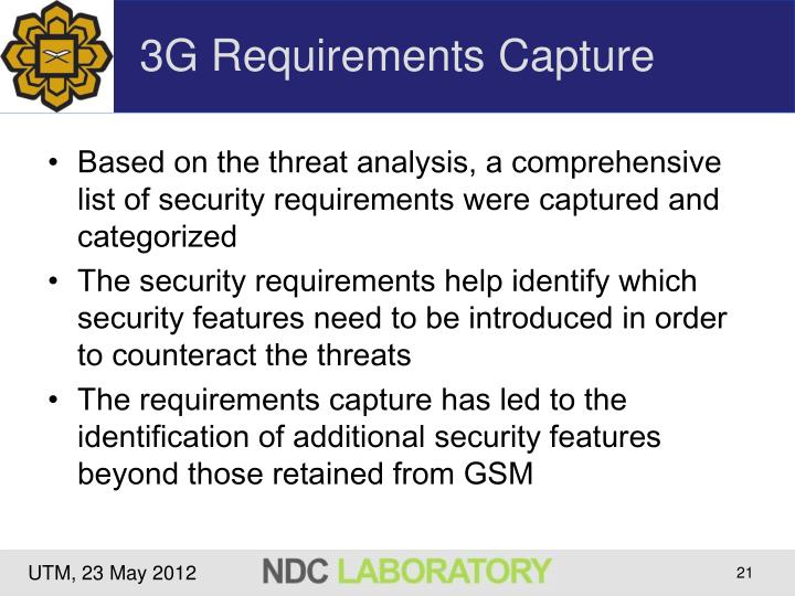 3G Requirements Capture