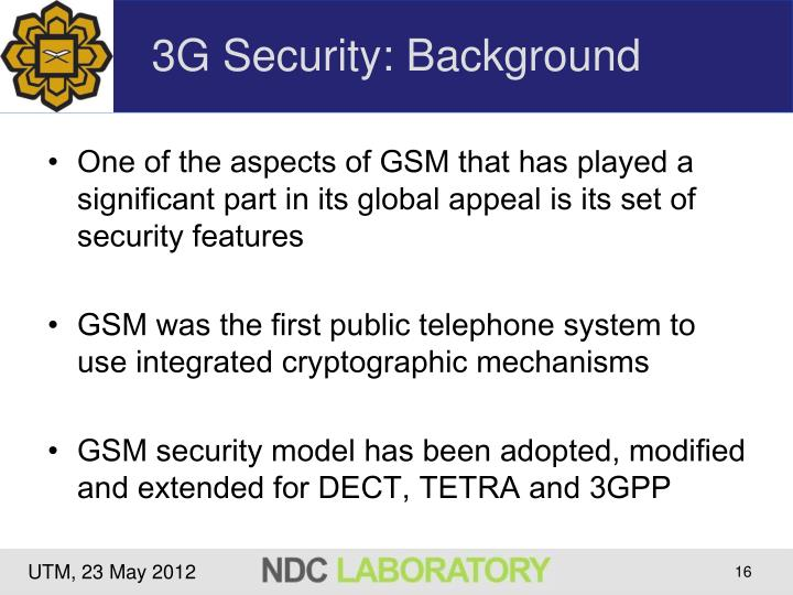 3G Security: Background