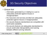 3g security objectives