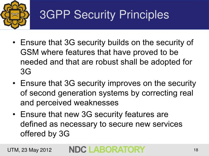 3GPP Security Principles