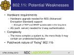802 11i potential weaknesses