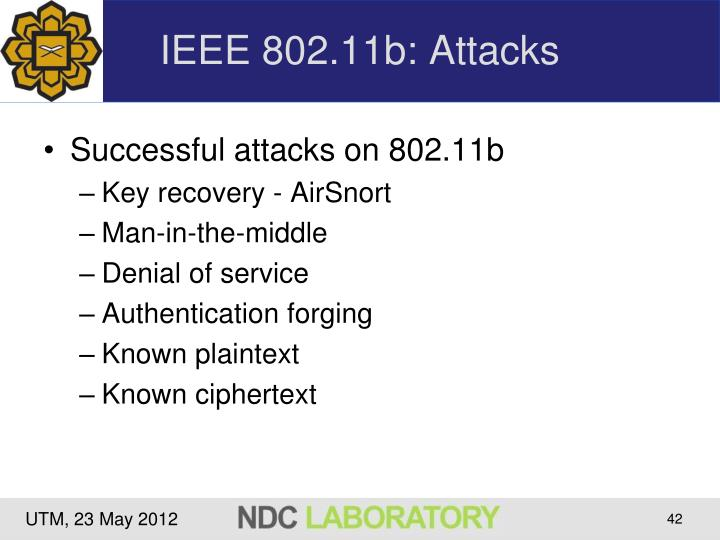 IEEE 802.11b: Attacks