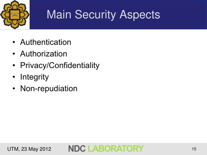Main Security Aspects