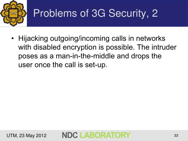 Problems of 3G Security, 2
