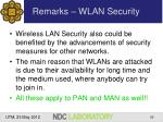 remarks wlan security