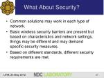 what about security