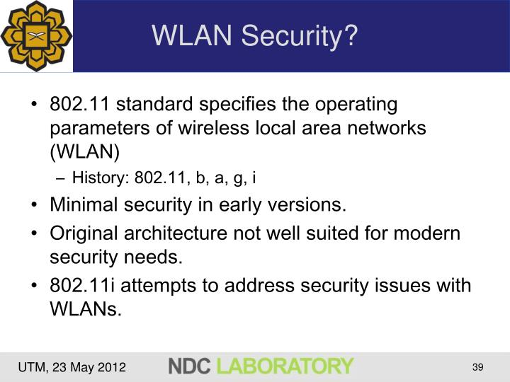 WLAN Security?
