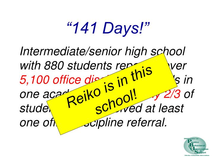 """141 Days!"""