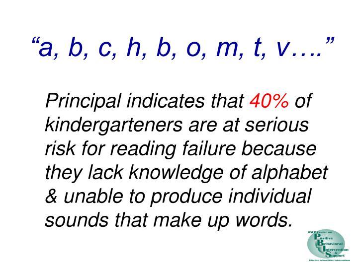 """a, b, c, h, b, o, m, t, v…."""