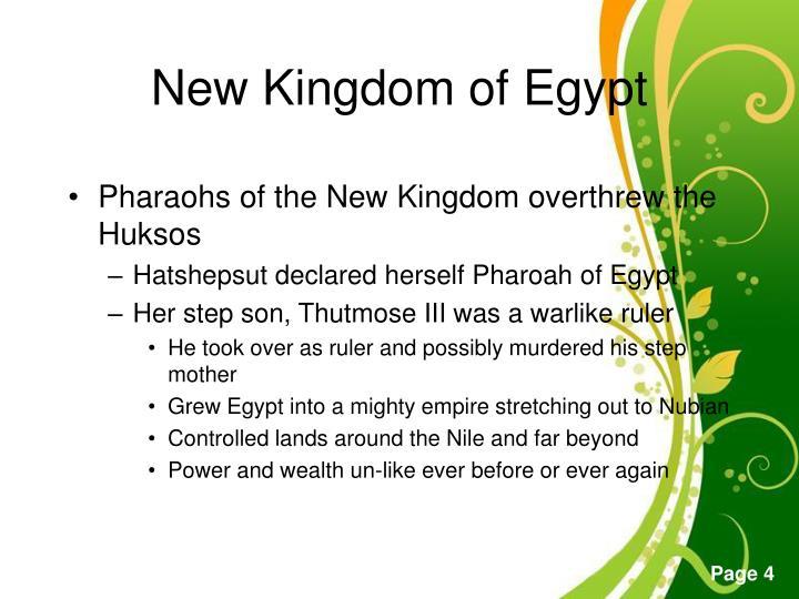 Pharaohs of the New Kingdom overthrew the Huksos