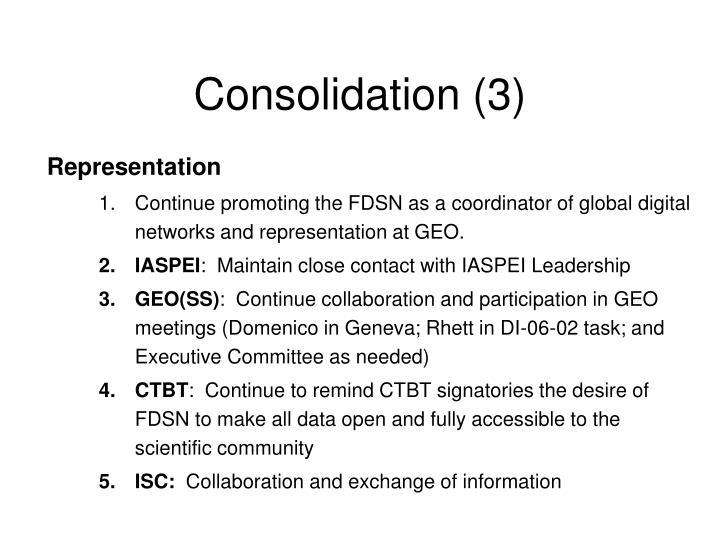 Consolidation (3)