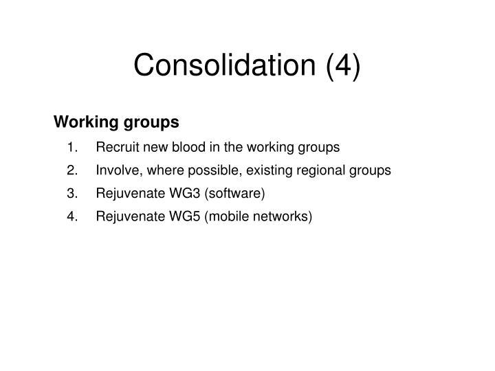 Consolidation (4)
