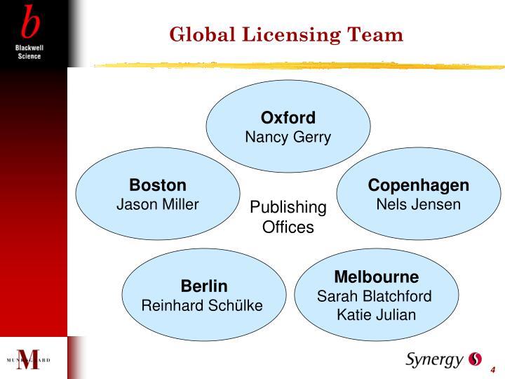 Global Licensing Team