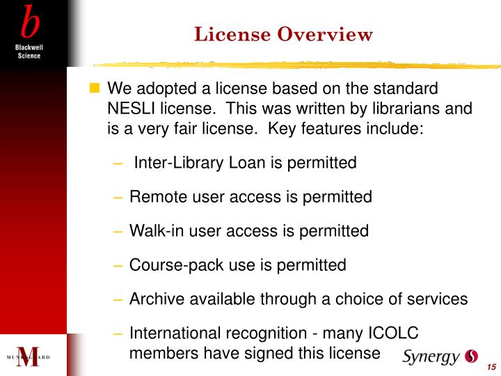 License Overview