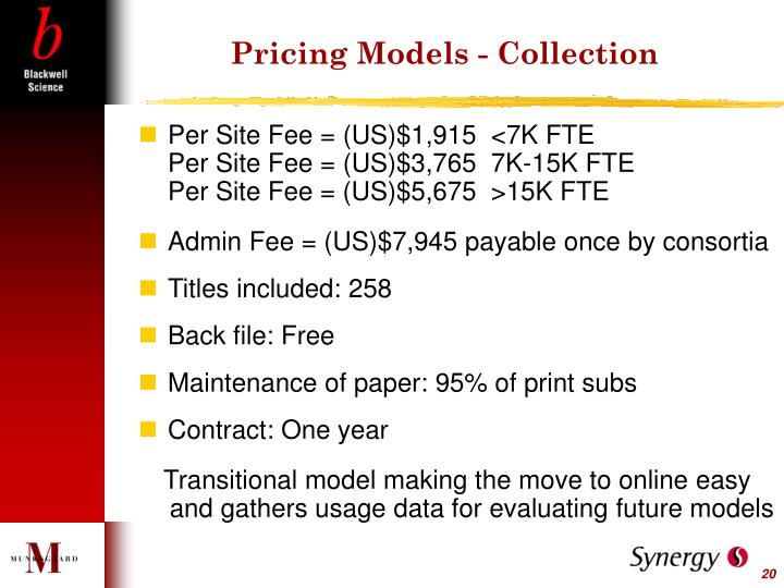 Pricing Models - Collection