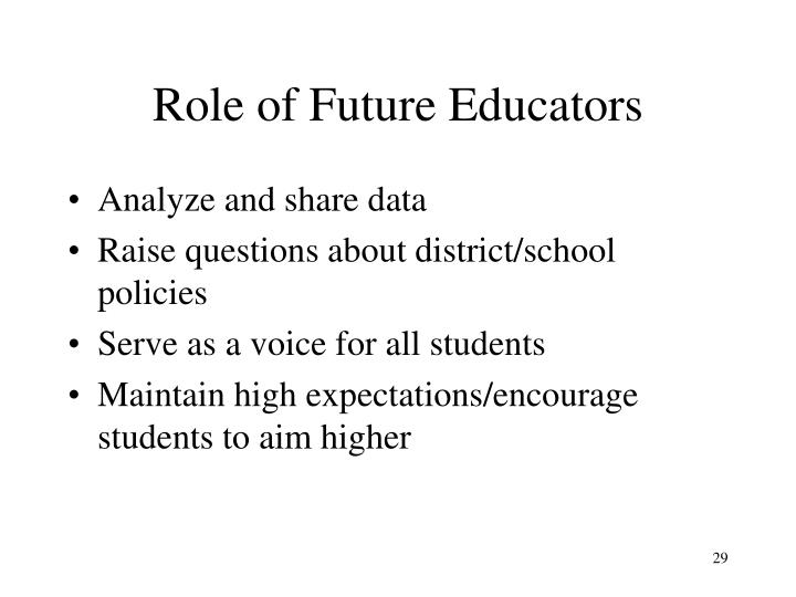 Role of Future Educators