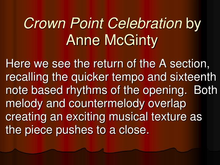 Crown Point Celebration