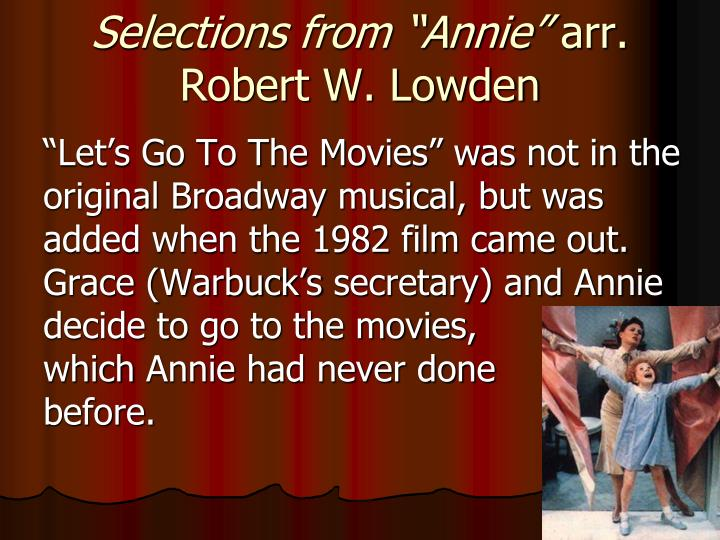 "Selections from ""Annie"""