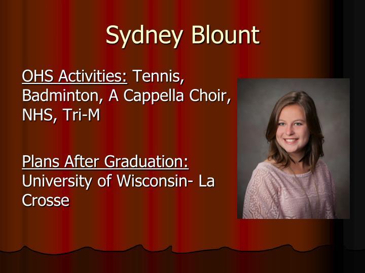 Sydney Blount