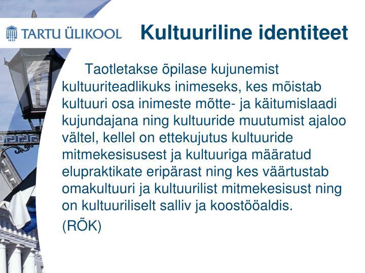 Kultuuriline identiteet