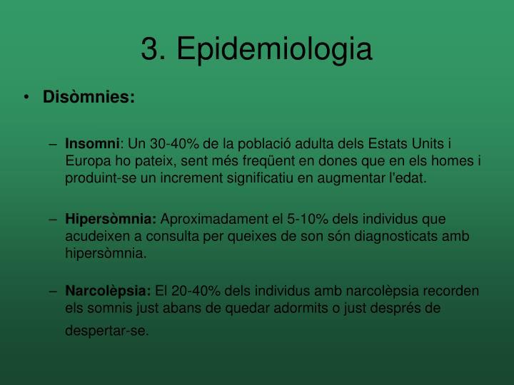 3. Epidemiologia