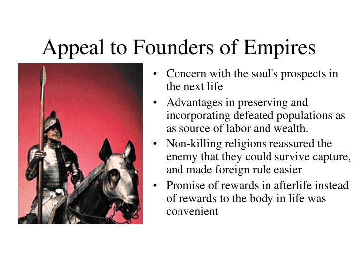 Appeal to Founders of Empires