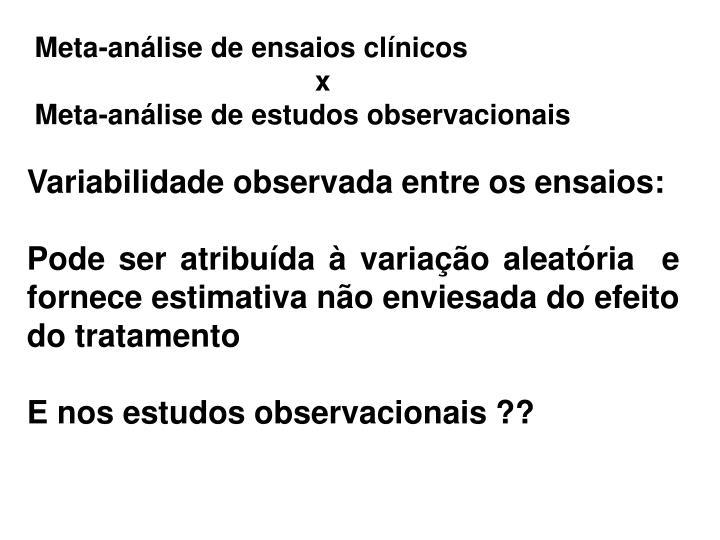 Meta-análise de ensaios clínicos
