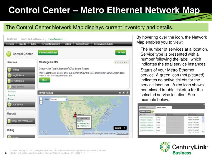 By hovering over the icon, the Network Map enables you to view: