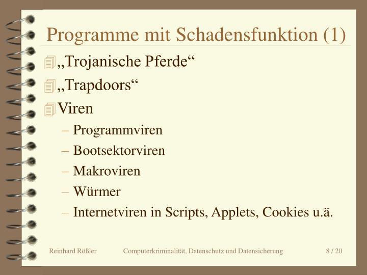 Programme mit Schadensfunktion (1)