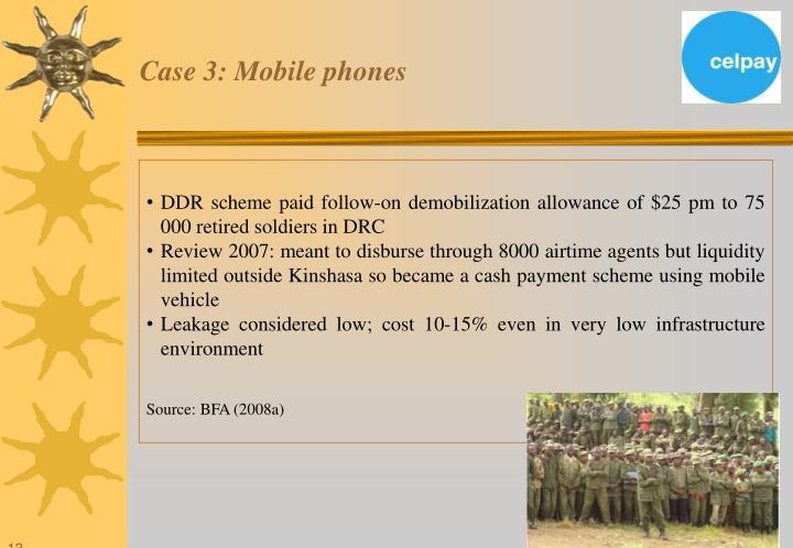 Case 3: Mobile phones
