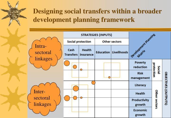 Designing social transfers within a broader development planning framework