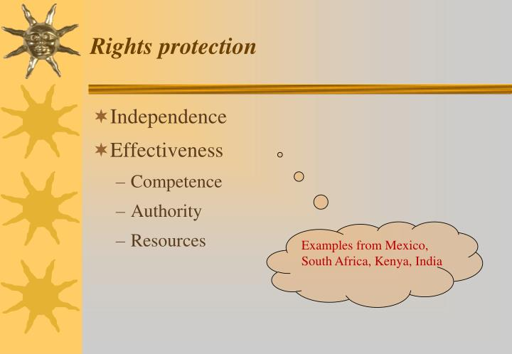 Rights protection