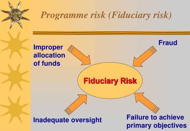 Programme risk (Fiduciary risk)