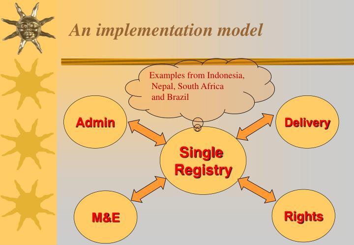 An implementation model