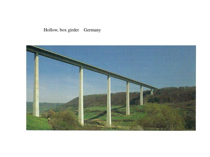 Hollow, box girder    Germany