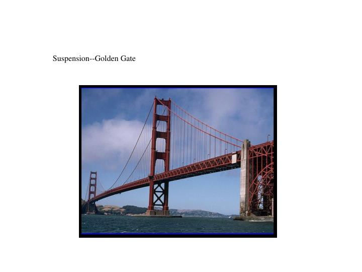 Suspension--Golden Gate