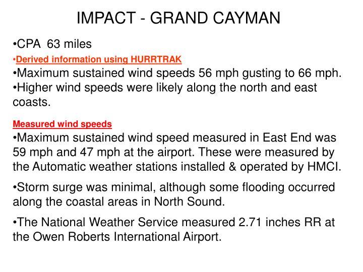 IMPACT - GRAND CAYMAN