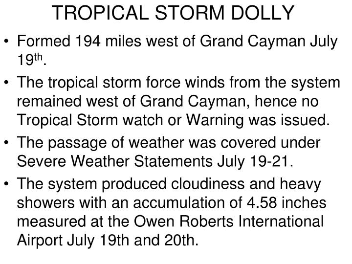 TROPICAL STORM DOLLY