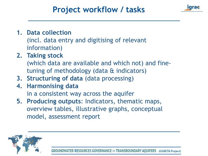 Project workflow / tasks